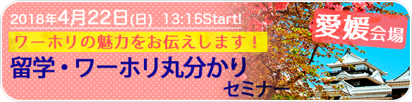 留学・ワーホリ丸分かりセミナーin愛媛
